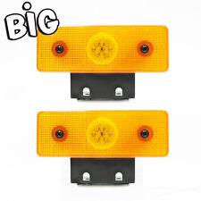 2x Grande LED intermitente lateral Posición Luz Indicadora 24v Camión Trailer