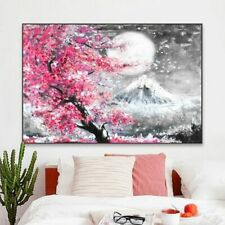 Wall Art Decor Painting - Japanese Cherry Blossom Canvas Print (UNFRAMED)