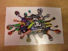 "Sticker Bomb ""paint splat"" sticker / decal  LARGE 300x200mm (approx A4)"