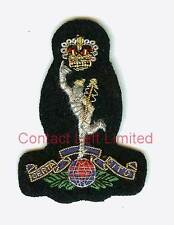 Royal Signals Navy Blue Officers Cap Badge Wire Embroided ( Jimmy