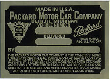 Packard Cowl Plate  1926 through mid 1932 (I have all plates 1926-1952) 26 27 28