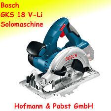 Bosch GKS 18 V-LI Akku - Handkreissäge; Solomaschine mit Sägeblatt