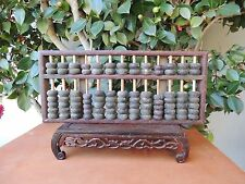 B.Vintage Traditional Wooden Abacus Calculator 2 1/2 LB