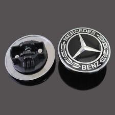 MB-HE-B NEW BLACK MERCEDES W212 W213 W205 W204 CE CLASS  FLAT HOOD EMBLEM Badge