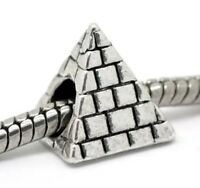 3D PYRAMID_Bead for Silver European Charm Bracelet_Egyptian Ancient Travel