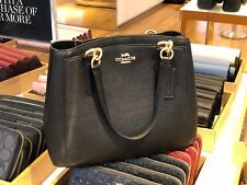 Coach F57847 Crossgrain Leather Minetta Handbag Crossbody Shoulder Bag Black