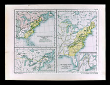 1902 Oxford History Map United States after Revolution Treaty of Paris 1783