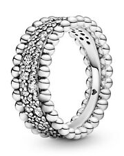 Pandora Jewelry Women's Ring Beaded Pavé Band 198676C01 From Silver 925-Sterling