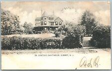 SUMMIT NJ DR.GORTON'S SANITARIUM 1905 UNDIVIDED ANTIQUE POSTCARD