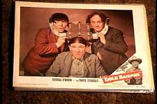 GOLD RAIDERS 1951 LOBBY CARD #8 THREE 3 STOOGES MOE LARRY SHEMP VERY RARE CARD