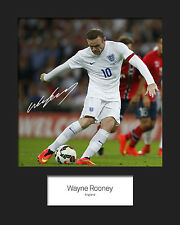 WAYNE ROONEY #5 10x8 SIGNED Mounted Photo Print - FREE DELIVERY
