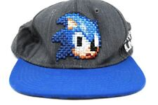 Sonic The Hedgehog Sega Pixel Face Dont Blink Snapback Hat Baseball Cap Official
