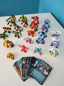 Gormiti Figuren 23 Aktionfiguren Sammlung Kinder Spielfiguren  mit 24 Karten