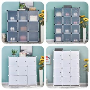 Modular DIY 9/12 Cubes Storage Cabinet Rack Organizer Bookcase Shelf Living Room