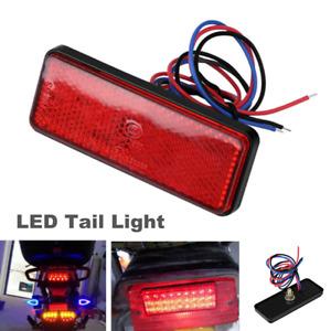 12V 24SMD Red Rectangle Universal Car Truck LED Reflector Tail Brake Stop Lights