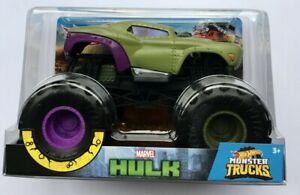 Hot Wheels Monster Trucks  MARVEL HULK  1:24 Scale Very Rare !!