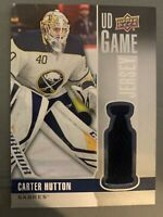 2019-20 Upper Deck - Carter Hutton - Game Jersey #GJ-CA