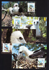 Abbotts Booby Bird FOUR Christmas Islands Maxi Postcards & FOUR FDC Covers WWF