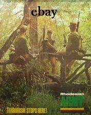 NEW A4 PRINT RECRUITMENT POSTER 2 1970'S RHODESIAN ARMY TERRORISM STOPS HERE
