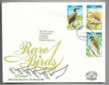 1984    KENYA  -  SG.  303 / 305  -  RARE  BIRDS   -  ON FIRST DAY COVER