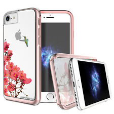 "Prodigee Show Blossom Clear iPhone 7 4.7"" Clear 2 Piece Case Slim Thin Cover"