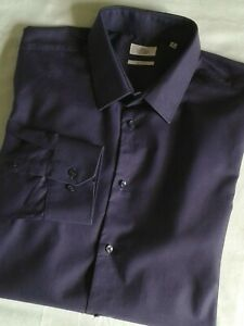 Next Shirting Classic Collar Textured Shirt Purple Men's Plus Collar 18 Slim Fit