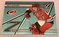 Jeff Skinner /25 made Zenith Z Team White Hot Insert Parallel Hockey Card 10