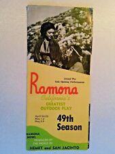 1976 Brochure Ramona Bowl Outdoor Play California Hemet San Jacinto