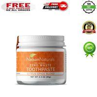 NELSON NATURALS The Original Zero Waste Toothpaste - Citrus Spice 3.3 OUNCE