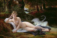 "perfect 36x24 oil painting handpainted on canvas""Leda and the Swan""@N4107"