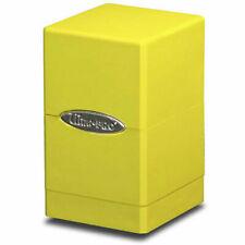 Ultra Pro Deckbox Satin Tower C6 Card Game Bright Yellow