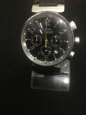 Montres de FLEUR Quartz Chronograph Beautiful Black Face Silver Dail 40mm Case