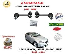 FOR LEXUS IS200D IS220D IS250 IS250C 2005-> 2X REAR STABILISER SWAY LINK BAR SET