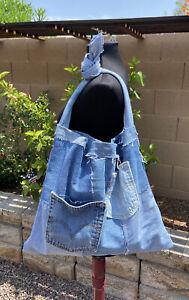 Levi's Upcycled Patchwork Purse Bag Hobo Messenger Shoulder Handbag Monica C