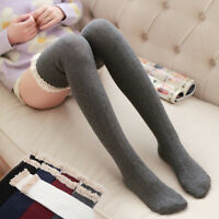 Over The Knee Long Socks Ladies Women's Cotton Knit Thigh High Stockings Sexy