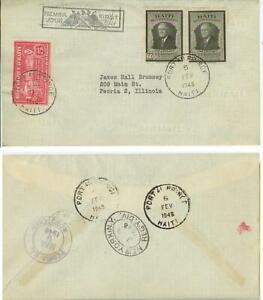 1946 Haiti First Day Cover - President Franklin Roosevelt issues