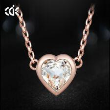 Herzkette Herz Anhänger Collier mit SWAROVSKI Kristall 750er Rosegold 18K UVP 69
