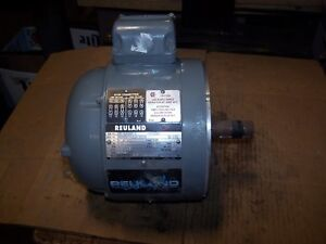 "NEW REULAND 1.5 HP AC ELECTRIC MOTOR 182 FRAME TENV 1800 RPM 220/440 VAC 1""SHAFT"