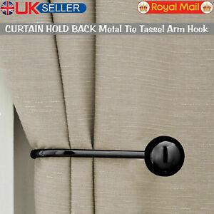 Large Stylish Curtain Hold Back Metal Tie Tassel Arm Hook Loop Holder U Shaped