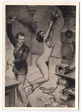 S/M SADOMASO SPANKING BONDAGE NUDE * 50s Photo of 1930s LÉON PIERRE Drawing #7