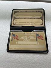 Metal Usa American Flag Social Security Card With Id Card Amp Plastic Holder