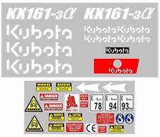 Decal Sticker set. KUBOTA KX161-3 Mini Digger Pelle Bagger Excavator