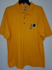 "0703 Mens Nfl Apparel Washington Redskins ""Polo"" Golf Football Jersey Shirt Gold"