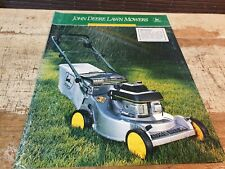 1989 JOHN DEERE LAWN MOWERS Original Sales  Brochure