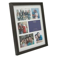 Multi Aperture 3D Shadow Box Photo Picture Display Black Frame With White Mount
