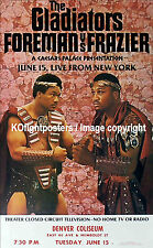 GEORGE FOREMAN vs. JOE FRAZIER  (2)  / Original Closed Circuit Boxing Poster