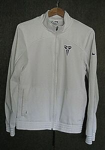 NIKE KB24 THERMA-FIT WHITE ZIPPER TRACK SWEATSHIRT JACKET TOP MENS SIZE SMALL