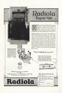 1924 Radiola Super VIII: Here at Last is Everything Vintage Print Ad