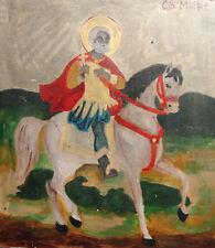 New listing Orthodox Tempera Wood Hand Painted Icon Saint Menas
