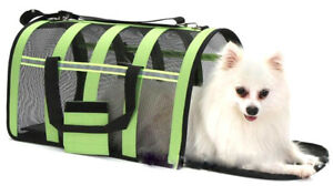 Pet Portable Carrier Crate Cage Puppy Dog Cat Mesh Fabric Travel Fobldable Bag